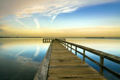 Sunrise on the Pier at Terre Ceia Bay, Florida, USA