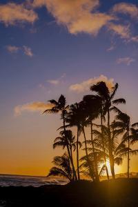 Sunset at Poipu Beach, Kauai, Hawaii, USA by Richard Duval