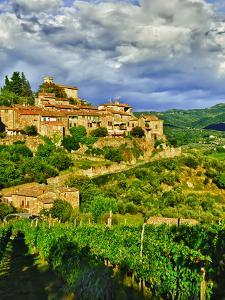 The Village of Montefioralle Overlooks the Tuscan Hills around Greve, Tuscany, Italy by Richard Duval