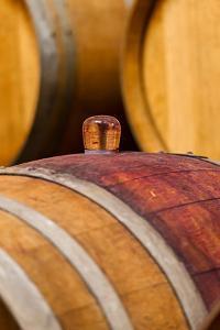 USA, Washington, Leavenworth. Glass Bung in Barrel Cellar by Richard Duval