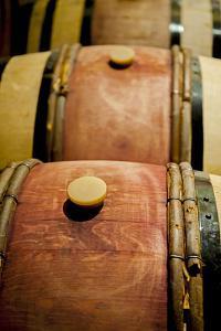 USA, Washington, Walla Walla. Barrel Room in Walla Walla Winery by Richard Duval