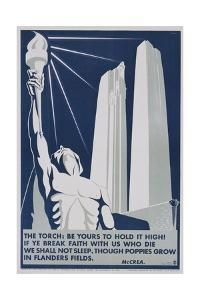 The Torch: Be it Yours to Hold High! Poster by Richard E. Filipowski