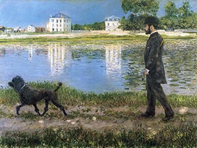 Richard Gallo and His Dog at Petit Gennevilliers, C. 1883-1884-Gustave Caillebotte-Giclee Print