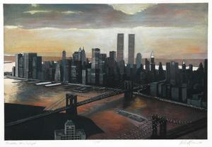 Manhattan View, Twilight by Richard Haas