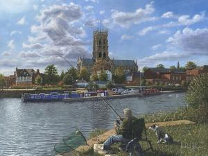 Fishing with Oscar - Doncaster Minster by Richard Harpum