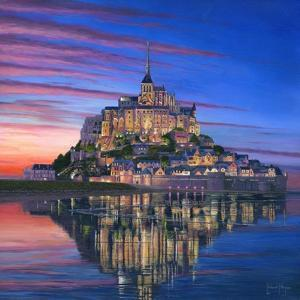 Mont Saint Michel Soir by Richard Harpum