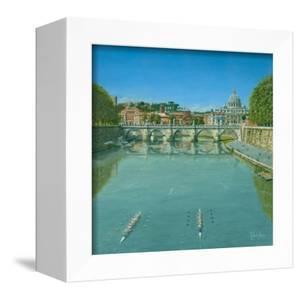 Rowing on the Tiber Rome by Richard Harpum