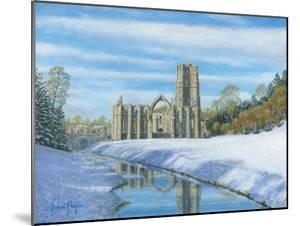 Winter Morning - Fountains Abbey Yorkshire by Richard Harpum