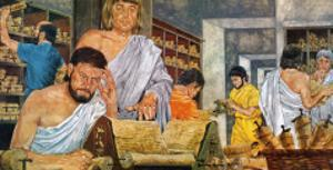 Scholars at Work in the Famed Library of Alexandria by Richard Hook