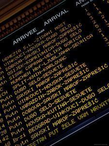 Arrivals Board, Zagreb Railway Station, Zagreb, City of Zagreb, Croatia by Richard I'Anson
