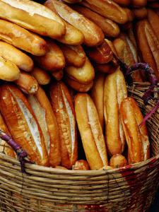 Baguettes in Basket at Central Market, Can Tho, Vietnam by Richard I'Anson
