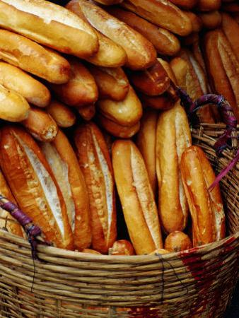 Baguettes in Basket at Central Market, Can Tho, Vietnam
