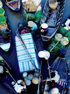Boats at Floating Market, Vietnam by Richard I'Anson