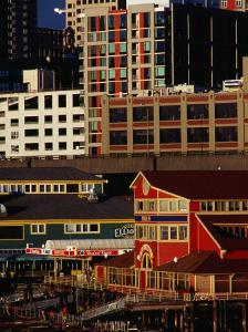 Buildings on Pier 55, Seattle, USA by Richard I'Anson
