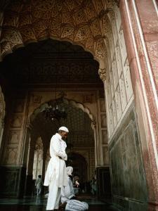 Call to Pray Inside the Badshahi Mosque, Lahore, Punjab, Pakistan by Richard I'Anson