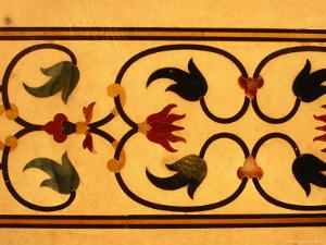 Detail of Inlay Work on Taj Mahal, Agra, Uttar Pradesh, India by Richard I'Anson