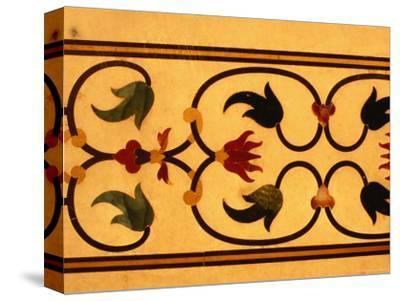 Detail of Inlay Work on Taj Mahal, Agra, Uttar Pradesh, India
