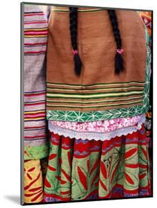 Detail of Woman's Clothing and Hair, Peru by Richard I'Anson
