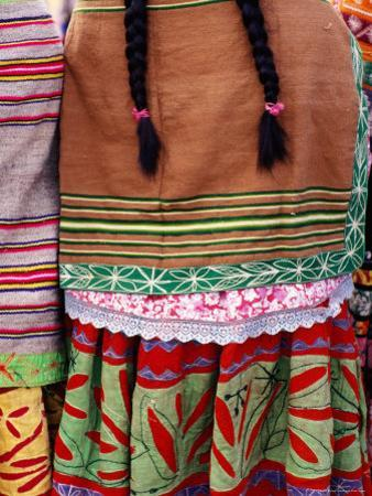 Detail of Woman's Clothing and Hair, Peru