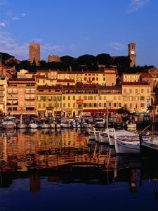 Eglise Notre Dame D'esperance Overlooking the Harbour at Dawn, Cannes, France by Richard I'Anson