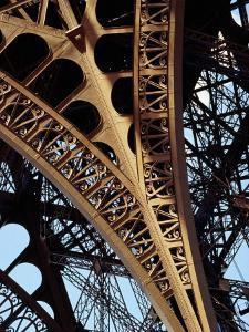 Eiffel Tower Architectural Detail, Paris, Ile-De-France, France by Richard I'Anson