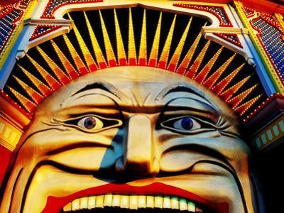 Face of Luna Park at Sunset St. Kilda, Melbourne, Australia