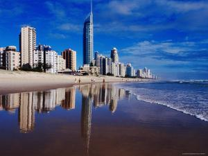 Hi-Rise Apartment Buildings and Surfers Paradise Beach by Richard I'Anson