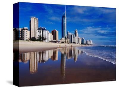 Hi-Rise Apartment Buildings and Surfers Paradise Beach