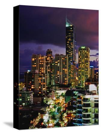 Hi-Rise Apartments Including Q1 Tower at Dusk