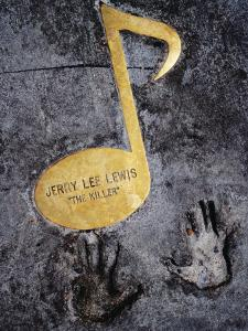 Jerry Lee Lewis Walk of Fame Note in Footpath on Beale Street, Memphis, United States of America by Richard I'Anson