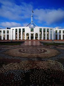 Parliament House with Mosaic in Foreground, Canberra, Australian Capital Territory, Australia by Richard I'Anson