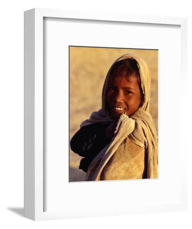 Portrait of Young Boy from Ba Bai Village, Rajasthan, India