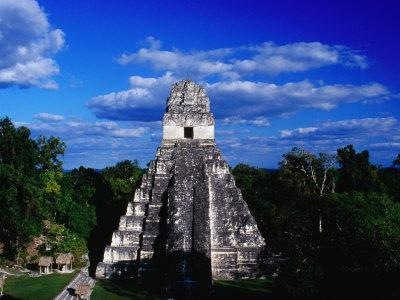 Temple of the Grand Jaguar on the Great Plaza, Tikal, El Peten, Guatemala
