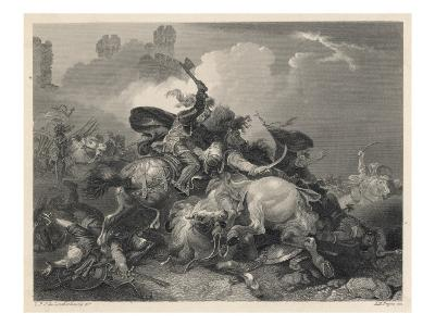 Richard I in Action in Palestine, During the Third Crusade--Giclee Print