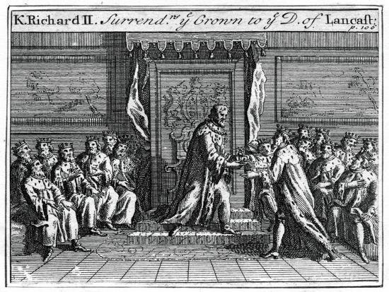 Richard II of England Surrenders His Crown, 1399--Giclee Print