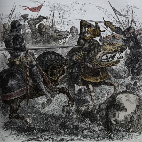 'Richard III at Bosworth', 22 August 1485, (c1880)-Unknown-Giclee Print