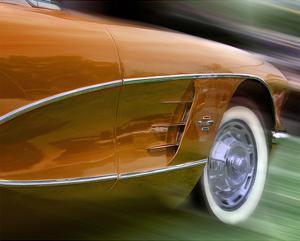 Orange Corvette by Richard James