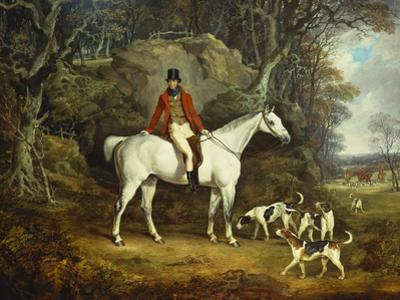 Viscount Rowland Hill on His Grey Hunter with the Shropshire Hunt by Richard Jones