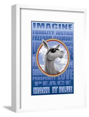 Make It Blue Imagine Poster