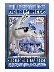 The Bluebird of Happiness Singing the Praises of Marriage by Richard Kelly