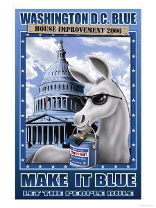 Washington D.C. Blue, House Improvement 2006 by Richard Kelly