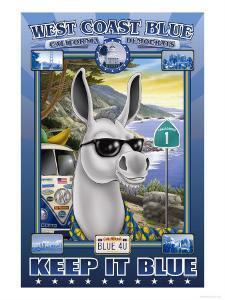 West Coast Blue, California Democrats by Richard Kelly