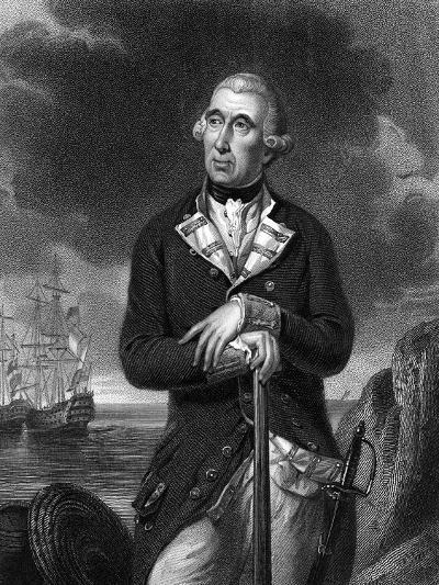 Richard Kempenfelt, English Naval Officer of Swedish Descent--Giclee Print
