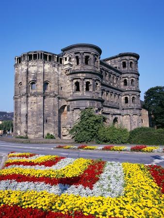 Flower Beds in Front of Porta Nigra in Trier