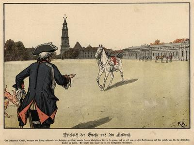 Frederick the Great of Prussia and His Favourite Horse