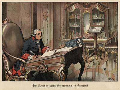 King Frederick the Great of Prussia in His Study at Sanssouci