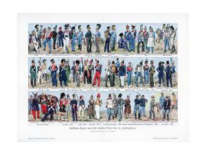 Types of Soldiers from the Middle of the 19th Century, 1900 by Richard Knotel