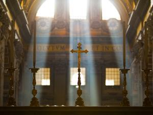 Crosses on Altar in St Peter's Basilica by Richard l'Anson