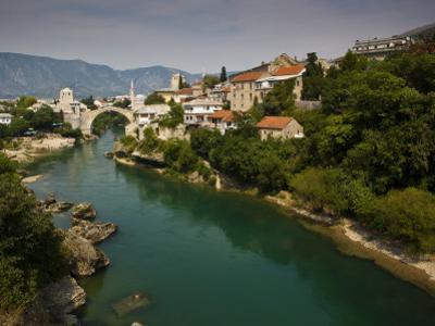 Stari Most or Old Bridge over Neretva River