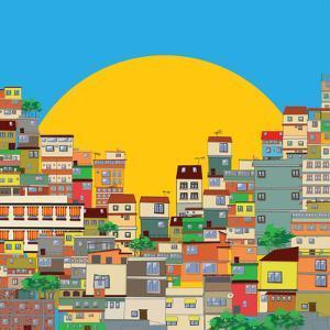 Brazilian Favela by Richard Laschon